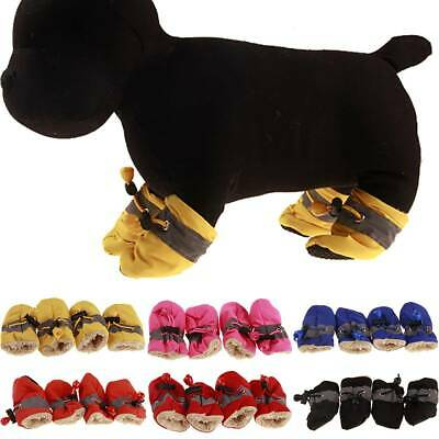Waterproof Pet Shoes Winter Dog Snow Boots Warm Chihuahua Puppy Comfort Booties • 4.55£