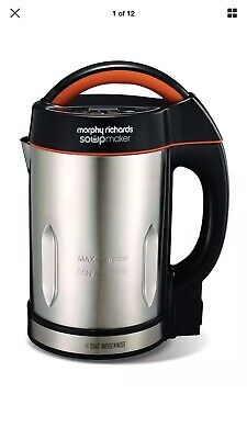 Morphy Richards 48822 1.6 Litres Soup Maker Stainless Steel NEW 2 Year Warranty • 48.99£