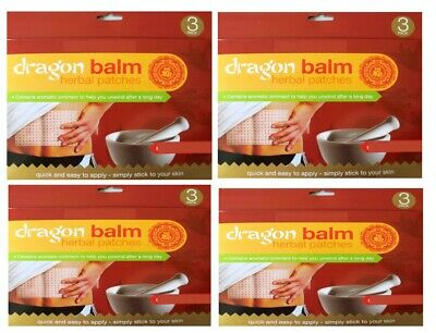 3-12 Pain Relief Dragon Balm Herbal Back Body Plasters Patches Muscles Deep Heat • 1.79£
