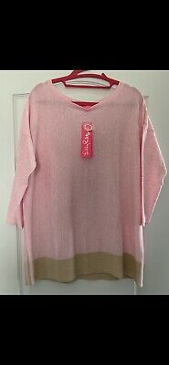 NWT Lilly Pulitzer - Dayna Coolmax Sweater - Pink Tropics Tint - Medium • 45$
