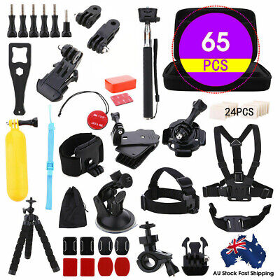 AU24.99 • Buy 65pcs Accessories Pack Case Chest Head Floating Monopod GoPro Hero 8 7 6 5 4 3