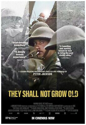 $17.49 • Buy They Shall Not Grow Old Movie Poster Full Color Print - Wall Art - 24x36 Inches