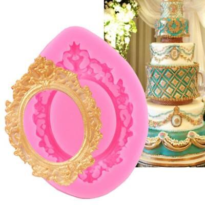 £2.08 • Buy Baroque Mirror Frame Silicone Mould Cake Decorating Chocolate Fondant Mold RE