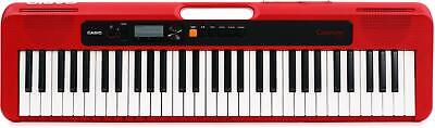 $119 • Buy Casio Casiotone CT-S200 (Red) - 61-key Digital Piano With 48-note Polyphony