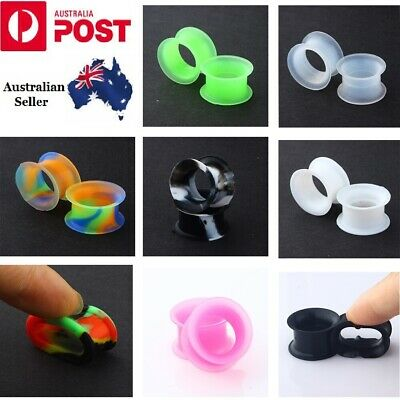 AU4.49 • Buy Ear Tunnel Plug Stretcher Taper Piercing- Soft Silicone 1 Pair (2pcs)