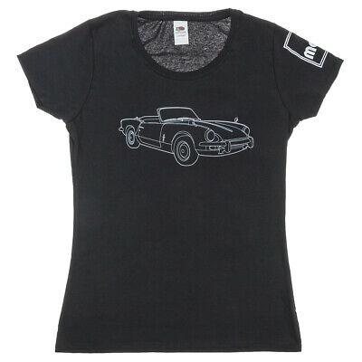 Triumph Spitfire Women's T-Shirt In Black Size XS - Available Also In S/M/L/XL • 14£