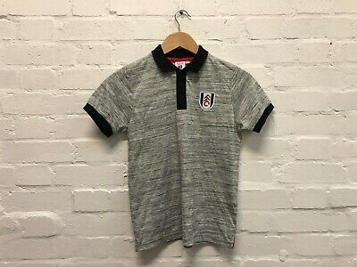 £10.99 • Buy Fulham FC Official Kid's Club Polo Shirt - 10-11 Years - Light Grey - New