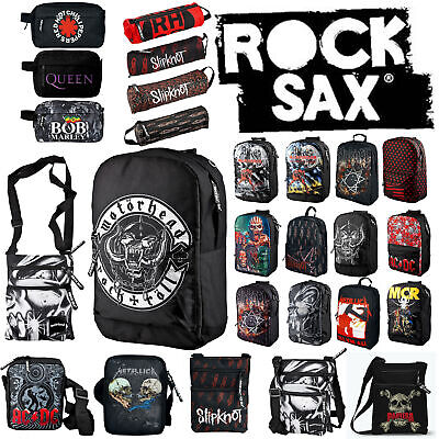 AU46.64 • Buy Rocksax - Official And Licensed Bags Of Your Favourite Rock & Metal Bands