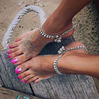£2.31 • Buy Women Gypsy Indian Bell Charm Ankle Bracelet Anklet Foot Chain Jewelry RE