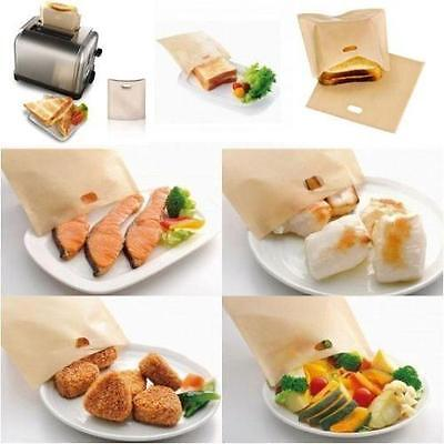 Reusable Toast Toaster Bags No Non Stick Oven Grill Panini Pizza Sandwich Bag RE • 1.88£