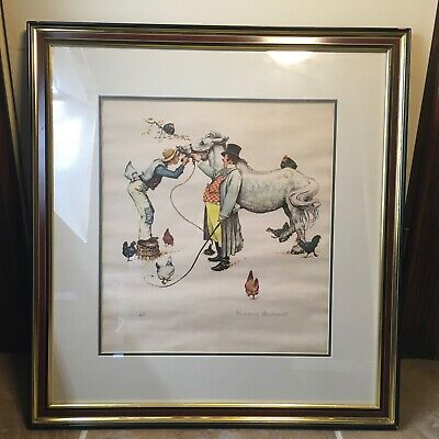 $ CDN609.03 • Buy Norman Rockwell Artist Proof - Horse Trader - Framed And Matted Collectable Art