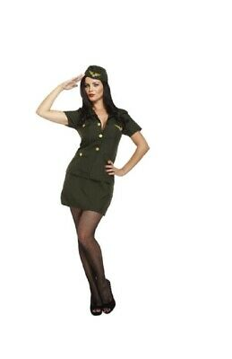 Ladies Army Lady Fancy Dress Costume Outfit Military Uniform WW2 - U88 123 • 10.99£