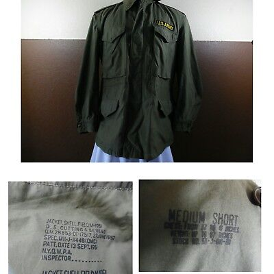 $79.99 • Buy VTG 1950's US Army Military M-1951 COLD WEATHER FIELD JACKET Zip&Snap Med Short