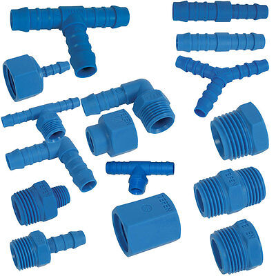 Tefen Nylon Pipe Fittings Plastic Barbed Pipe Joiner Connectors 14 Bar Pressure • 2.30£