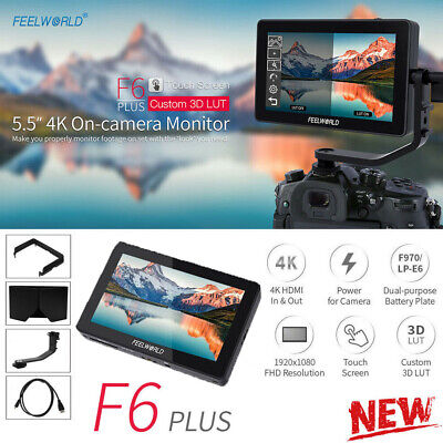 AU251.09 • Buy Feelworld F6 Plus 5.5  3D LUT HDMI IPS Touch Screen Camera Video Field Monitor