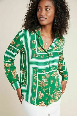 $ CDN72.78 • Buy New Anthropologie Rdalamal Giselle Scarf Printed Tunic Button Down Top Size XL