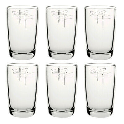 La Rochere Set Of 6 Libellule Highball Glasses, 40cl Drink Water Decorated Glass • 35.95£