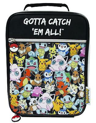 £12.99 • Buy Pokemon Lunch Bag Characters Gotta Catch Em All Food Container One Size