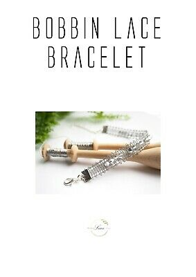 Bobbin Lace Pattern With Therad Bracelet Begginers Jewellery Lacemaking • 5.60£