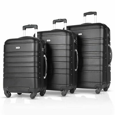 "View Details 3PCS Luggage Travel Set ABS Spinner Bag Trolley Suitcase W/ Lock 20"" 24"" 28"" • 69.99$"