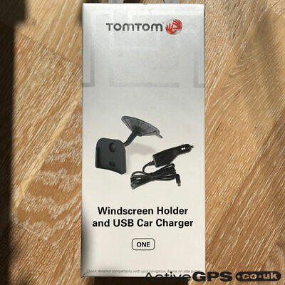 TomTom ONE New/2nd/3rd Windscreen Holder And USB Car Charger - 9N00.101 • 29.99£