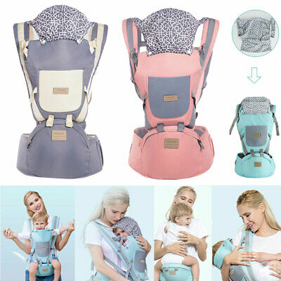 Ergonomic Infant Baby Carrier With Hip Seat Stool Adjustable Wrap Sling Backpack • 20.17£