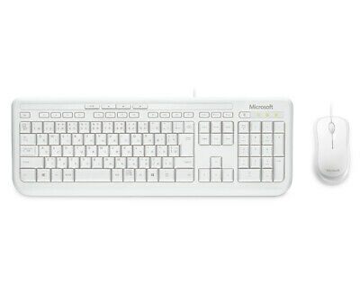 AU38.90 • Buy Keyboard And Mouse Combo 600 Microsoft Wired APB-00022 White