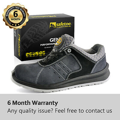 AU90.34 • Buy Safetoe Mens Work Safety Shoes Leather Light Weight Metal Free Composite Toe