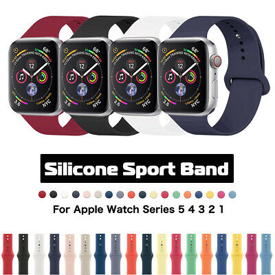 Silicone Sports IWatch Band Strap For Apple Watch Series 5 4 3 2 38/42mm 40/44mm • 3.59£
