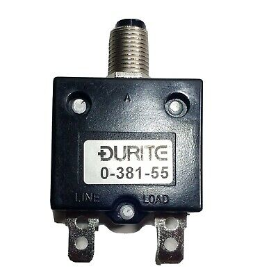 £7.25 • Buy 5A Thermal Circuit Breaker Trip Push Button Re-Settable 12V 24V Durite 0-381-55