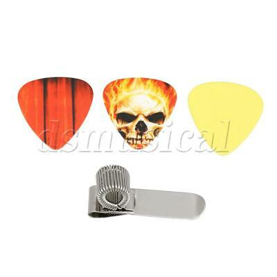 $ CDN8.29 • Buy Metal Spring Guitar Picks Holder With 3pcs Guitar Picks Guitar Part