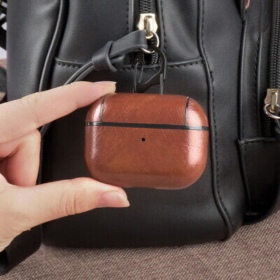 $ CDN4.13 • Buy For Airpods Pro Earphone Protective Case Leather Charging Soft Cover +Hold Hook