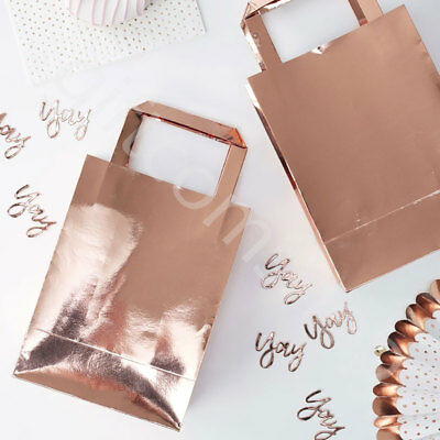 Rose Gold Party Favour Bags Birthday Wedding Hen Party Favours Gift Bags - Pk 5 • 6.95£