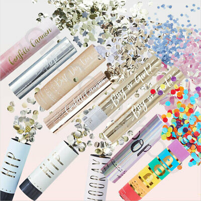 £6.99 • Buy Compressed Air Gold Pink Blue Confetti Cannons Hen Party Popper Wedding Birthday