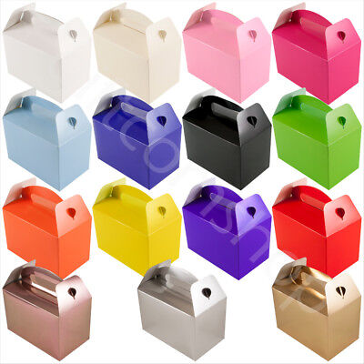 £4.79 • Buy Plain Coloured Party Boxes Kids Childrens Birthday Favours Gift Food Lunch Box