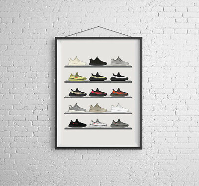 £12 • Buy YEEZY Collection Artwork Poster Print