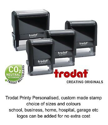 £10.95 • Buy Personalised Business Stamp Self Inking Business Name Your Signature Logo Free