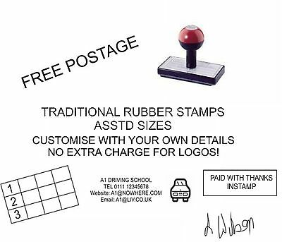 £7.95 • Buy Personalised Name Address Rubber Stamp Any Wording Logo Business School Office