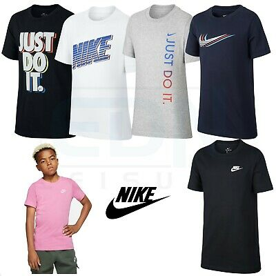 Junior Nike T Shirts Boys Girls Kids Tops Short Sleeve Tee Age 7 8 9 10 11 12 13 • 12.55£