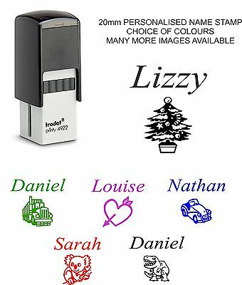 £9.99 • Buy Personalised Any Name Self Inking Rubber Stamp Kids Fun Dinosaur Christmas Gift