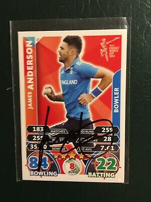 AU19.95 • Buy Signed James Anderson Cricket Attax 2015 World Cup England Card.