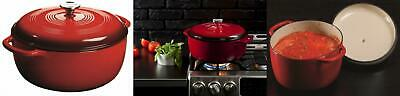 $ CDN151.98 • Buy Lodge 7.5 Quart Enameled Cast Iron Dutch Oven. XL Red Enamel Qt,