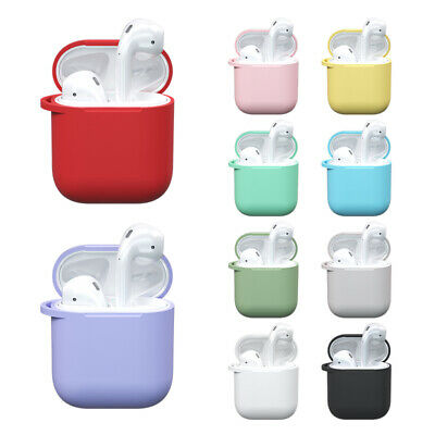 AU5.60 • Buy NEW Silicone Case Protector For Apple AirPods 1 2 Case Cover Skin 10 Colors