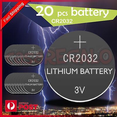AU5.45 • Buy 20x New Cr2032 3v Lithium Cell Battery 5004lc 2032 Br2032 Button Batteries Oz