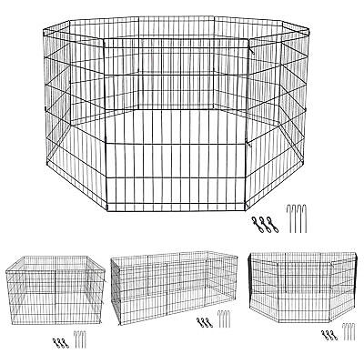 $30.99 • Buy 30 Inch 8 Panels Tall Dog Playpen Large Crate Fence Pet Play Pen Exercise Cage