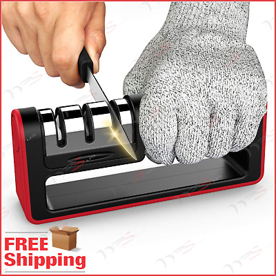 $10.69 • Buy 3 Stage Senzu Sharpener Priority Chef Knife Sharpen Version Sharpening Knives
