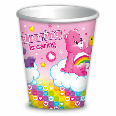 £3.89 • Buy Pack Of 8 Care Bears Party Paper Cups - Disposable And Recyclable