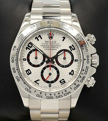 $ CDN42916.92 • Buy Rolex Daytona 116509 Cosmograph 18k White Gold SIlver Racing Dial Service Card