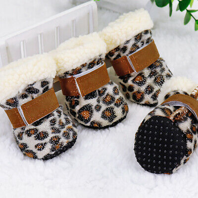 £7.78 • Buy Warm Winter Pet Dog Boots Puppy Shoes For Small Dog Anti-slip Pet Snow Booties