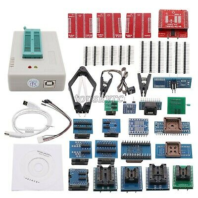 TL866II PLUS Programmer EEPROM Fit For NAND Flash AVR MCU GAL PIC SPI 28 Adapter • 88.82£